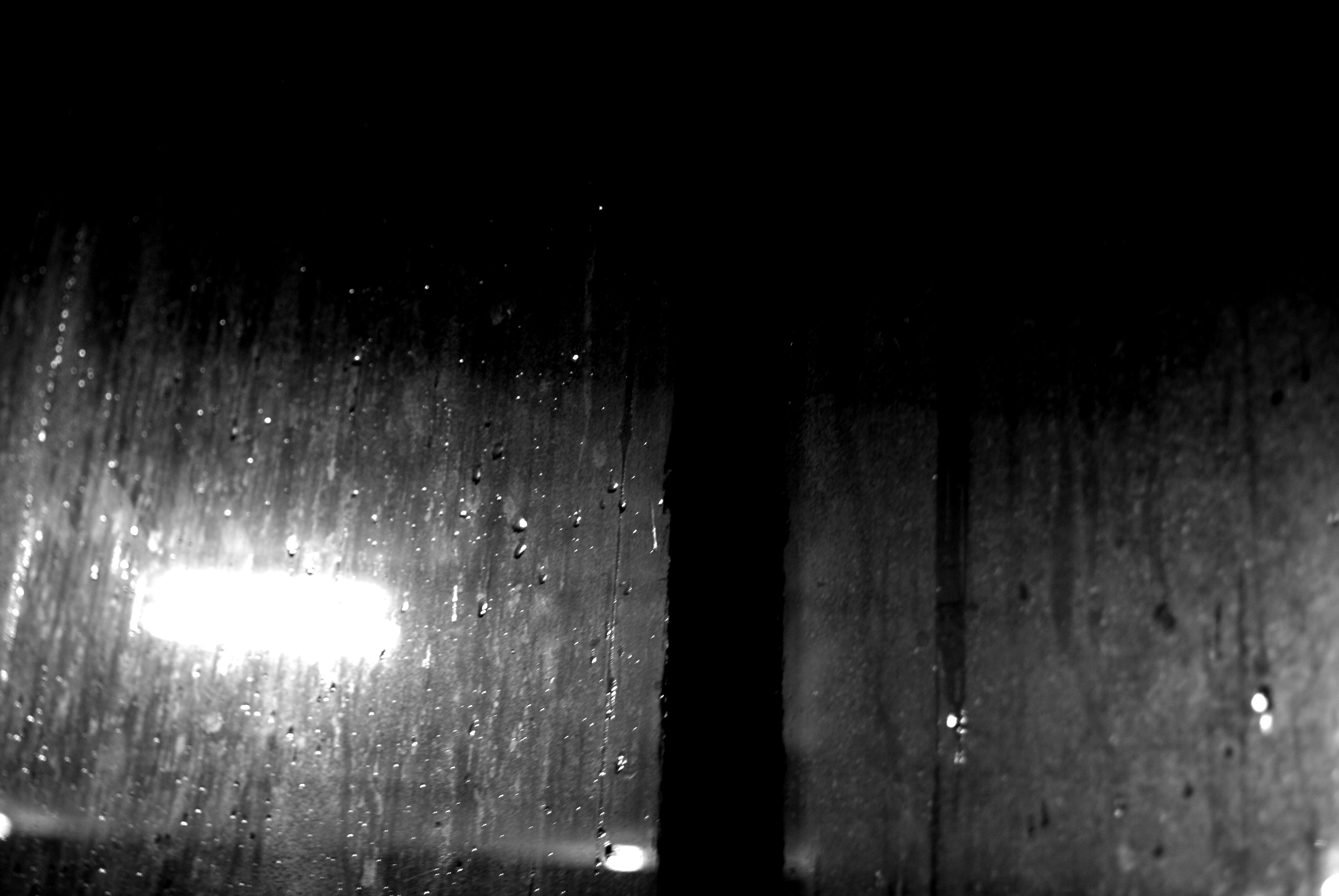 Rain on Window Black and White by EntropyPhotography on ...