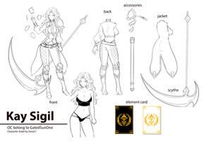 Kay Sigil character sheet by Siera21