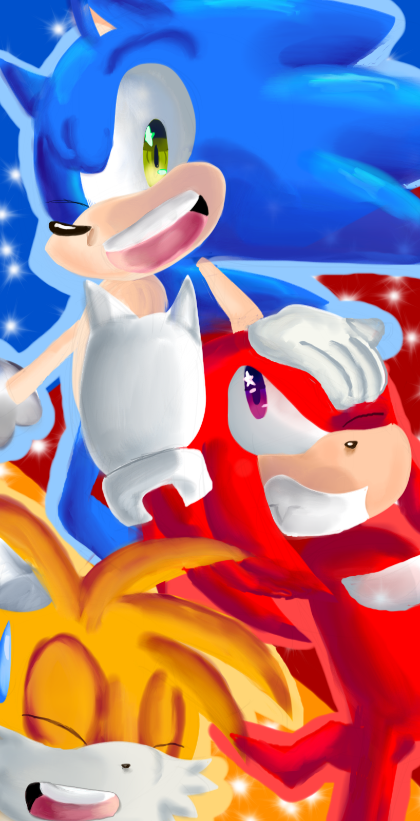how to draw tails and knuckles