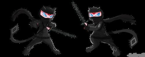 2 Ninja Mews (Commission)