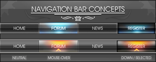Nav Bar Concepts by Sab0r
