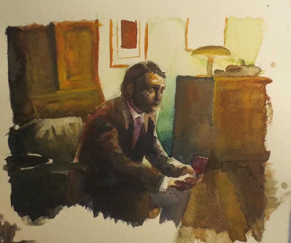 Hannibal in Watercolor by FullmetalFlame29