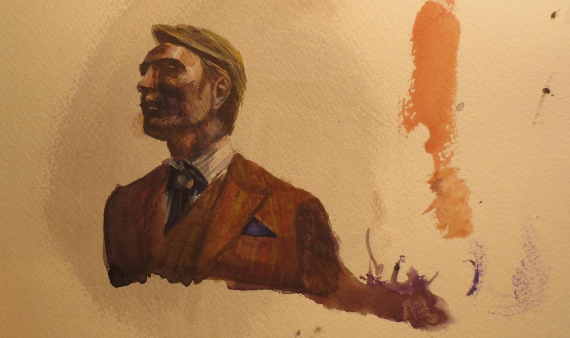 Hannibal in Watercolor P2 by FullmetalFlame29