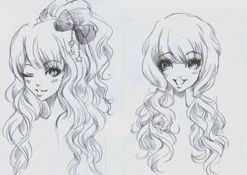 Gyaru hair by Nina-D-Lux