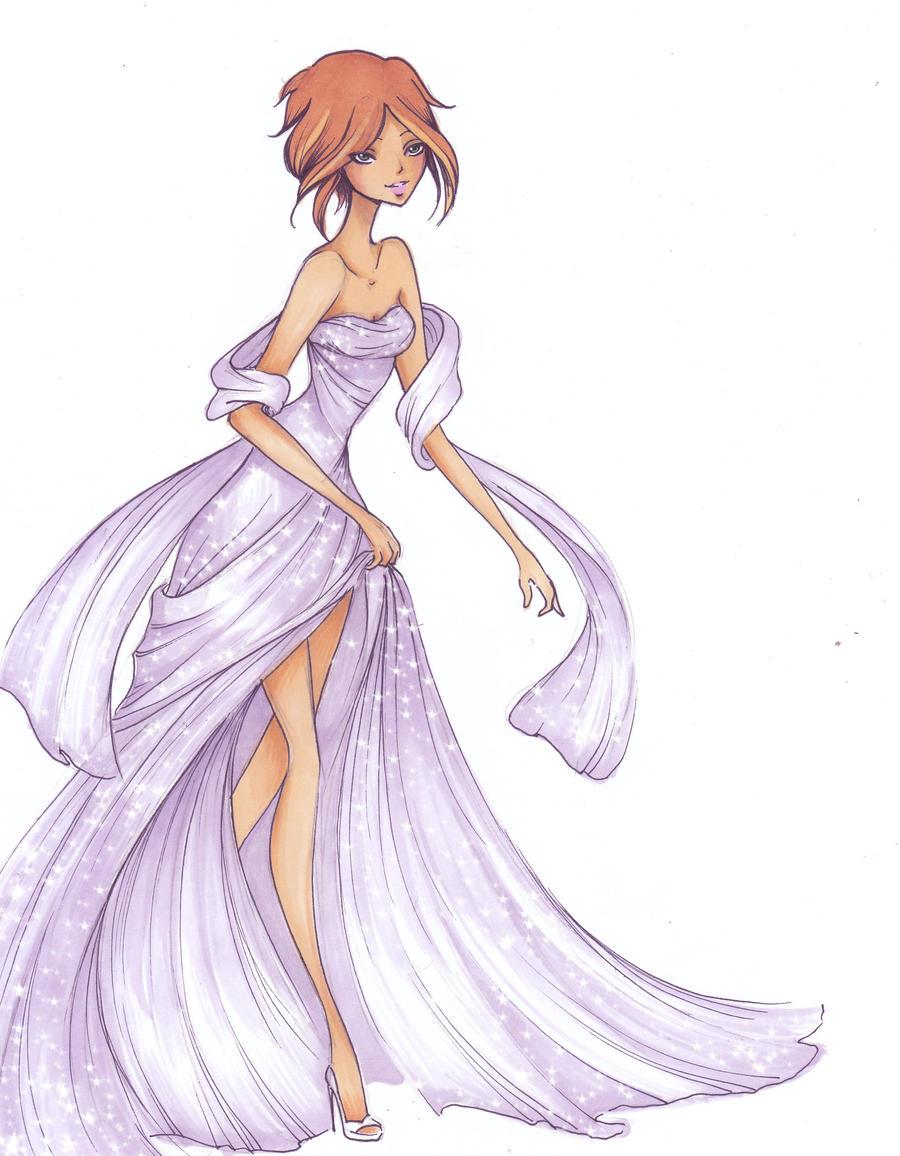 Violet formal by Nina-D-Lux