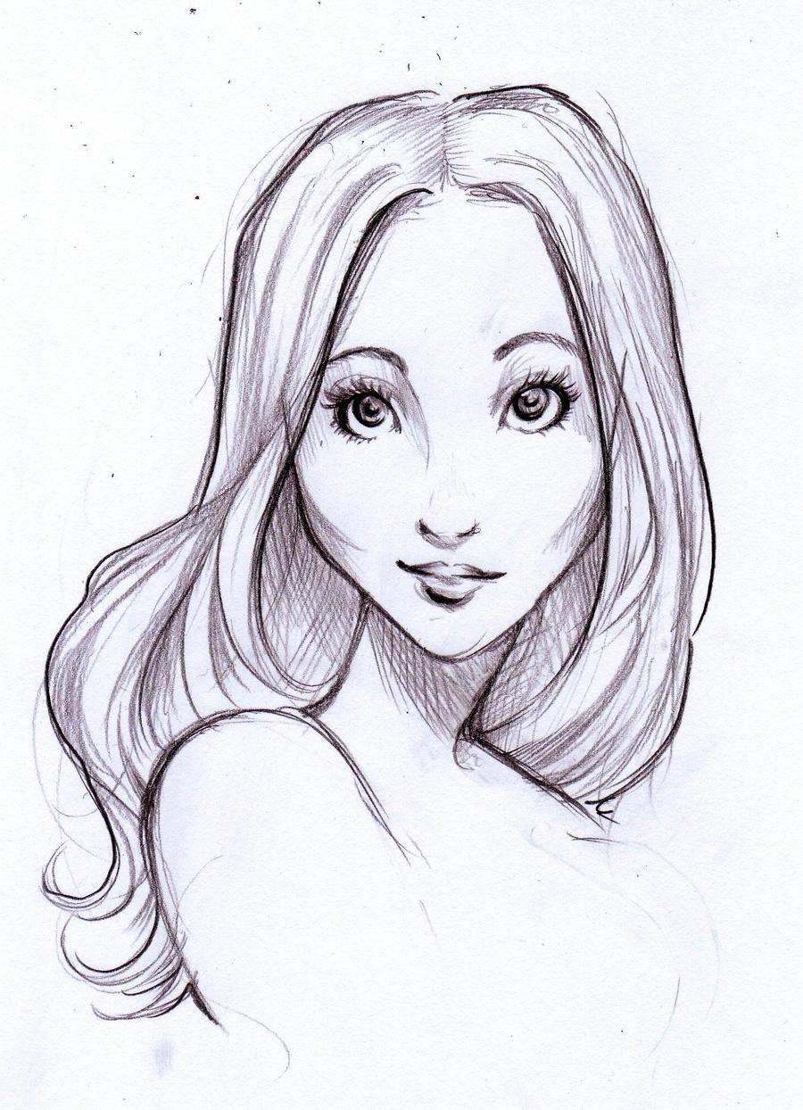 Quick sketch portrait by Nina-D-Lux
