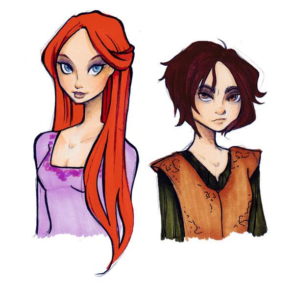 Sansa and Arya by Nina-D-Lux