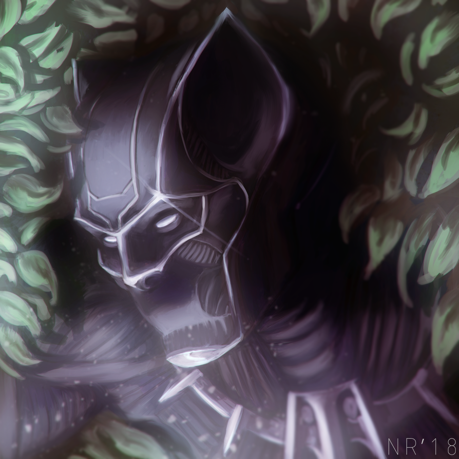 Black Panther by reptiliandemon
