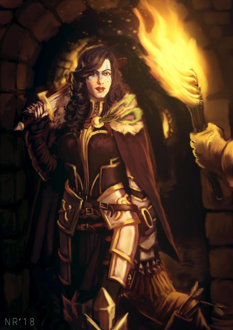 Fantasy Commission #2- Rogue Swordswoman by reptiliandemon