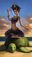 turtle goddess by gleworld