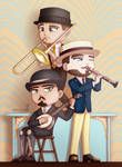 Dieselpunk Musician Trio by tolknam
