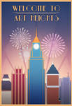 Welcome to Art Heights (Art Deco Poster) by tolknam