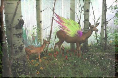 { Flying Deers? } by Kumona12
