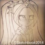 Aria Blaze Sketch (Instagram Ver.)