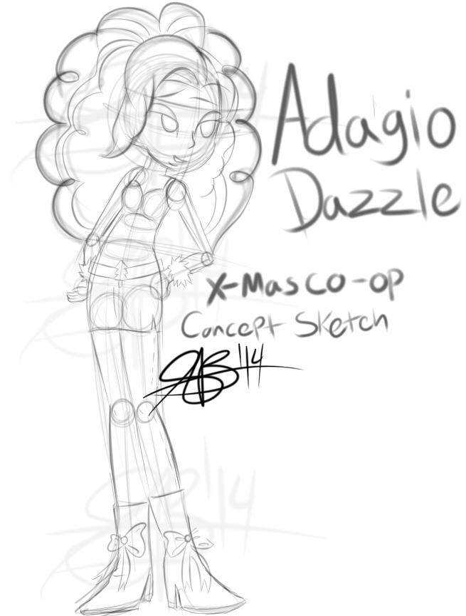 Adagio Dazzle Co-Op Concept Sketch by xxXSketchBookXxx