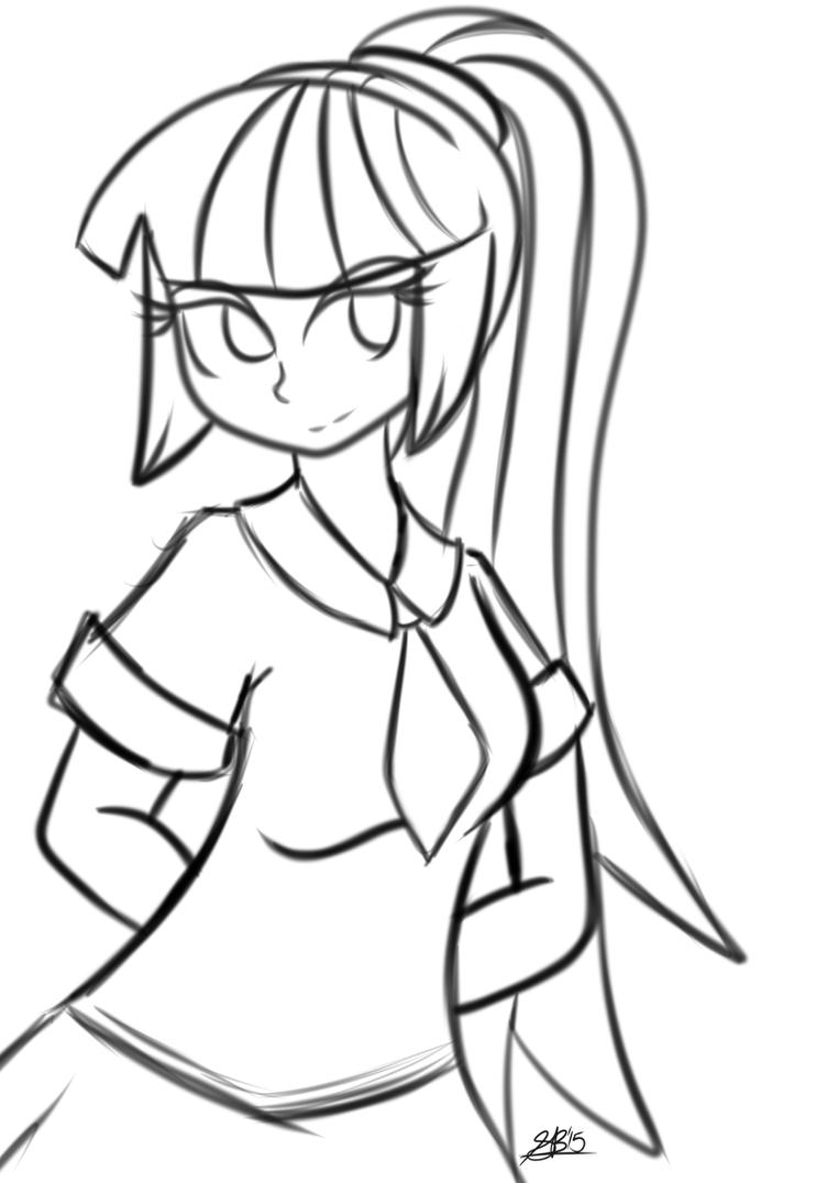 Sonata Dusk School Girl Sketch by xxXSketchBookXxx