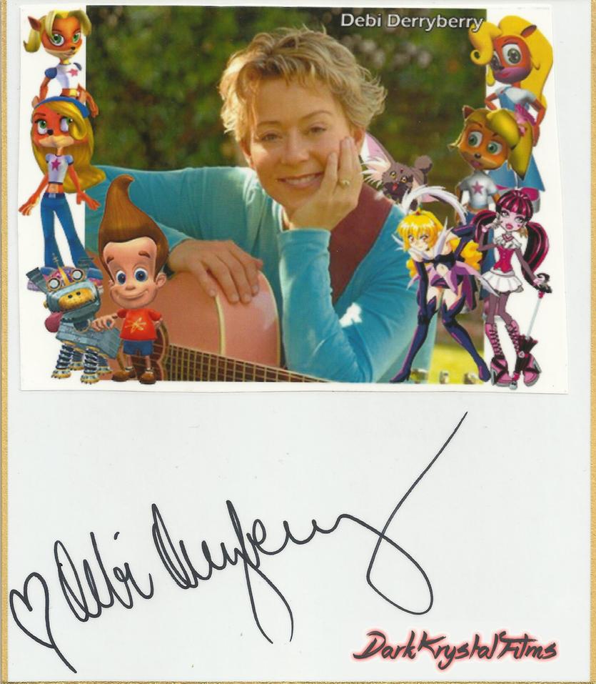 Debi Derryberry Autograph by xxXSketchBookXxx