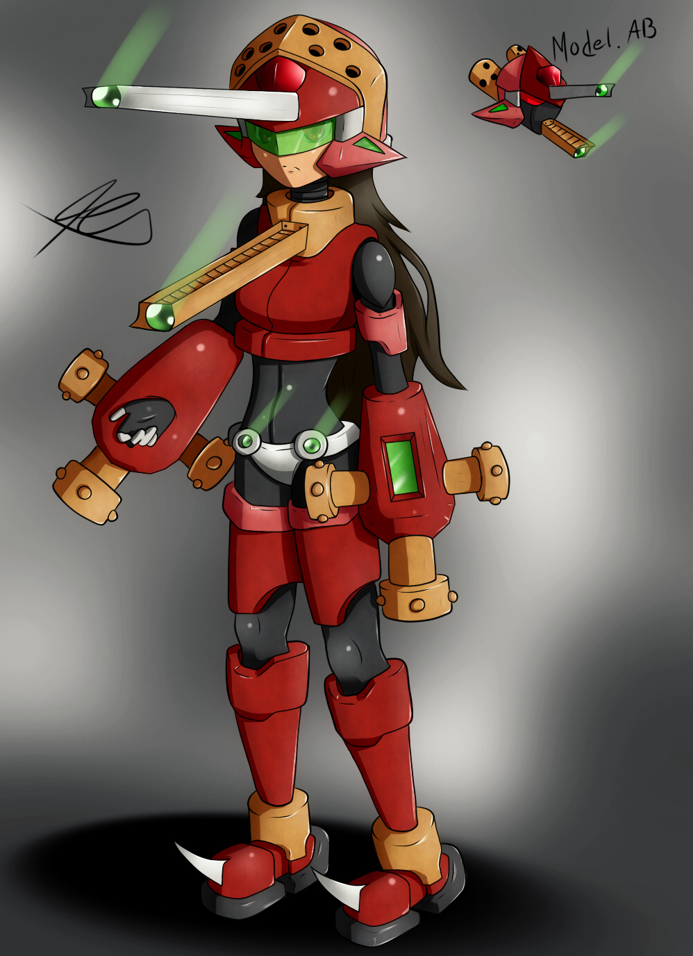 Model AB  New Megaman type by Quote-J