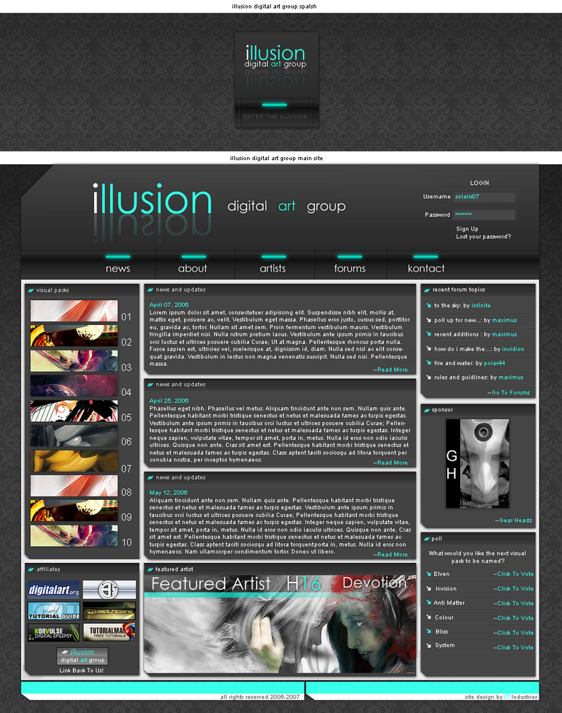 Illusion: Digital Art Group by Solaris07
