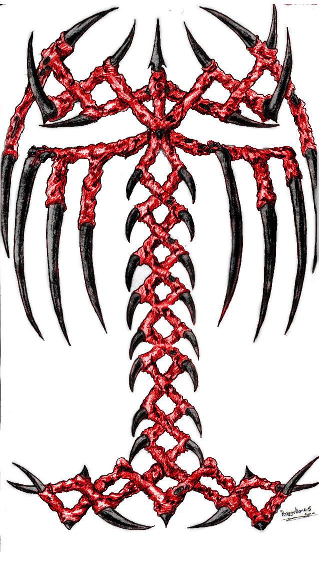 Tribal Death Tattoo: Tribal Death Tattoo By Raggabones On DeviantArt