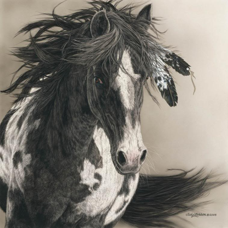Native American Horse Drawings Indian horse 2 by