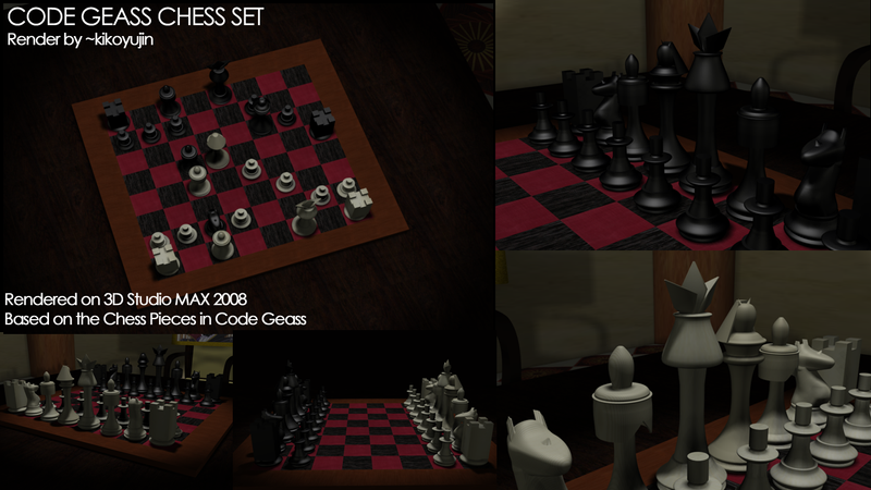 Code Geass Chess Set by kikoyujin