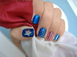 Independence Nails by LizLizards