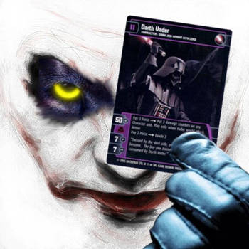 Panther Joker holds Vader by Ambrosius77