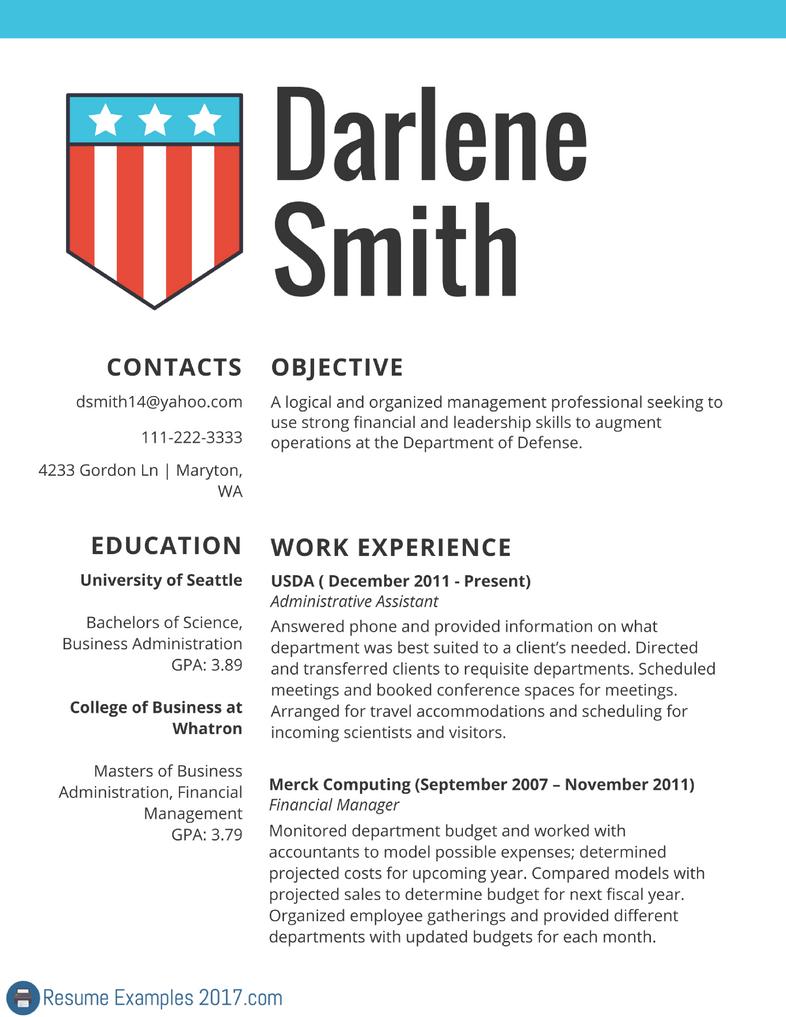 federal resume examples 2017 by resumeexamples