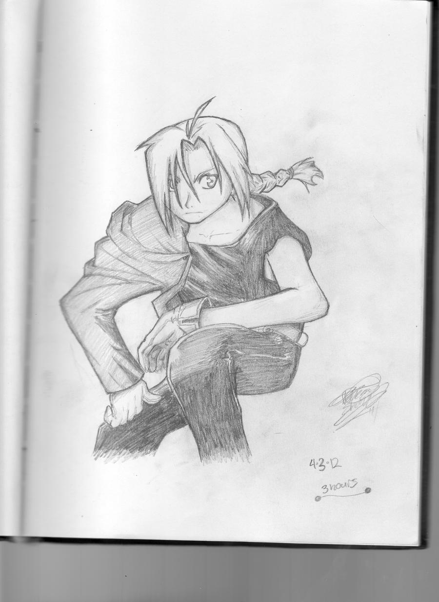 Edward Elric Sketch :) by EpiKfurry