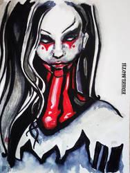 Gothic Dark Lady by EdhelMoth