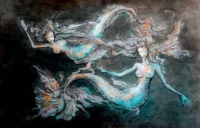 mermaids by EdhelMoth