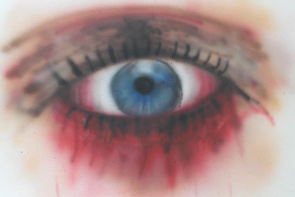 Resident Evil eye airbrushed by Garchompisbeast