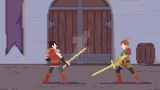 Illias and Sandril (animation) by gatekid3