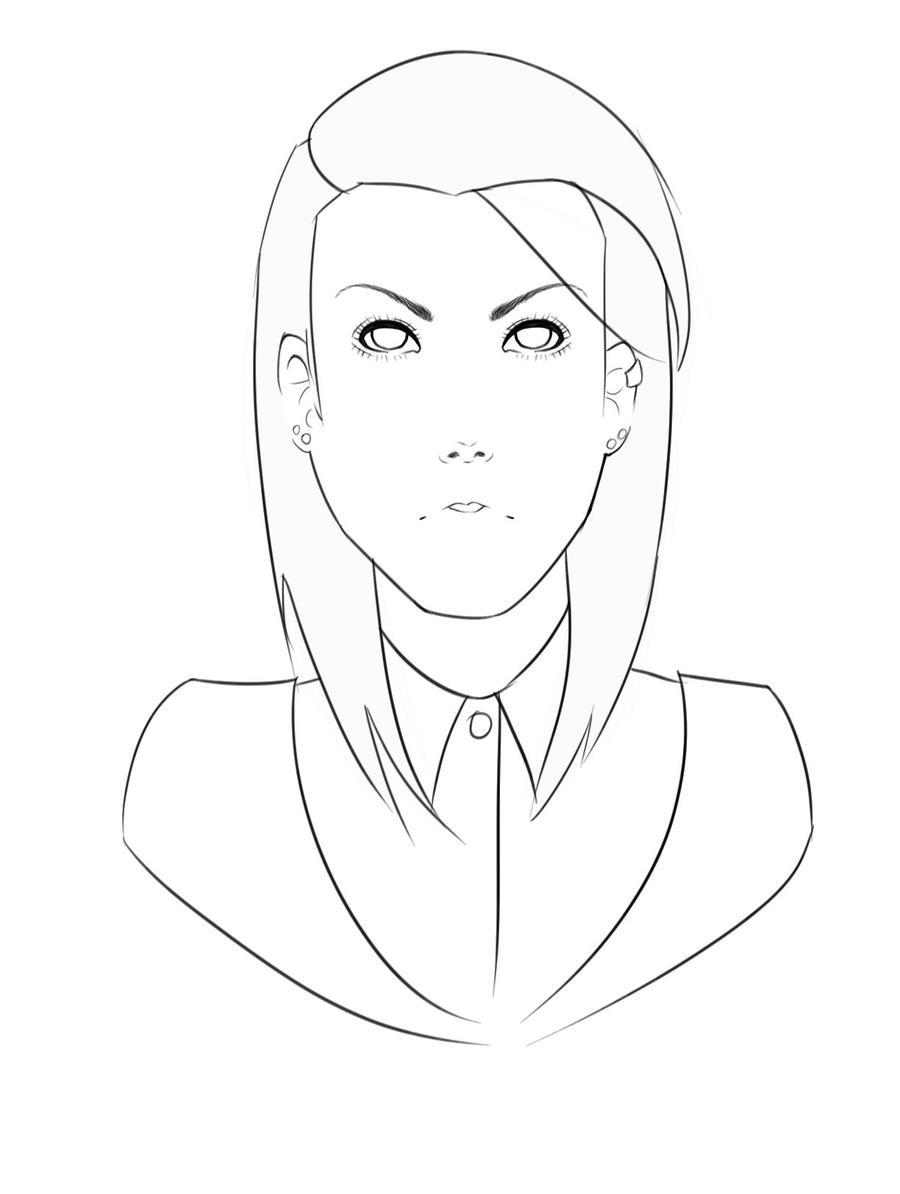 D Line Drawings Not Working : Not serious enough line art by garaa on deviantart