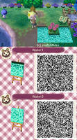 Animal Crossing Water pattern - qr code