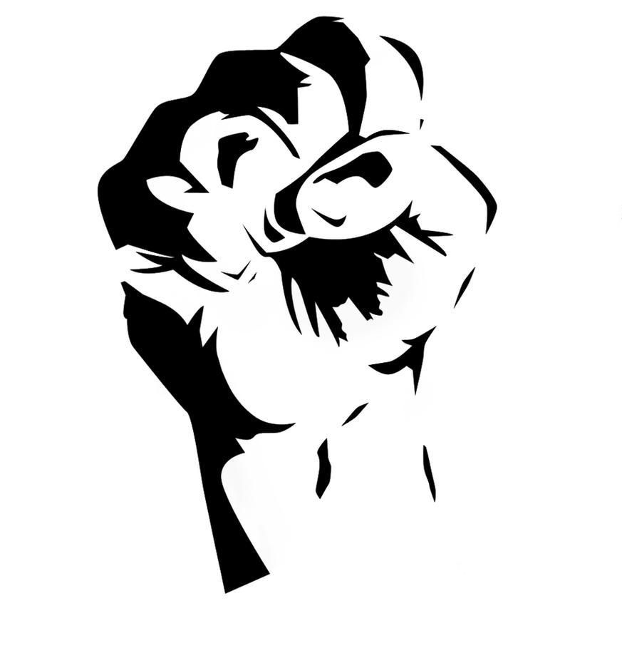 Fist stencil by killingspr on deviantart