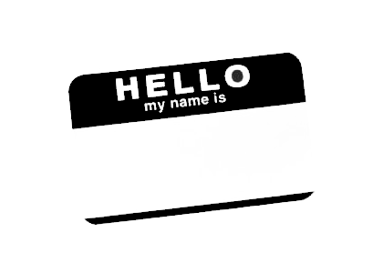 Hello My Name Is Tag Stencil By Killingspr