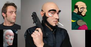 Jet Black Prosthetic Makeup