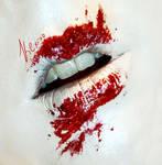 Halloween look #1 - Bloody Kisses
