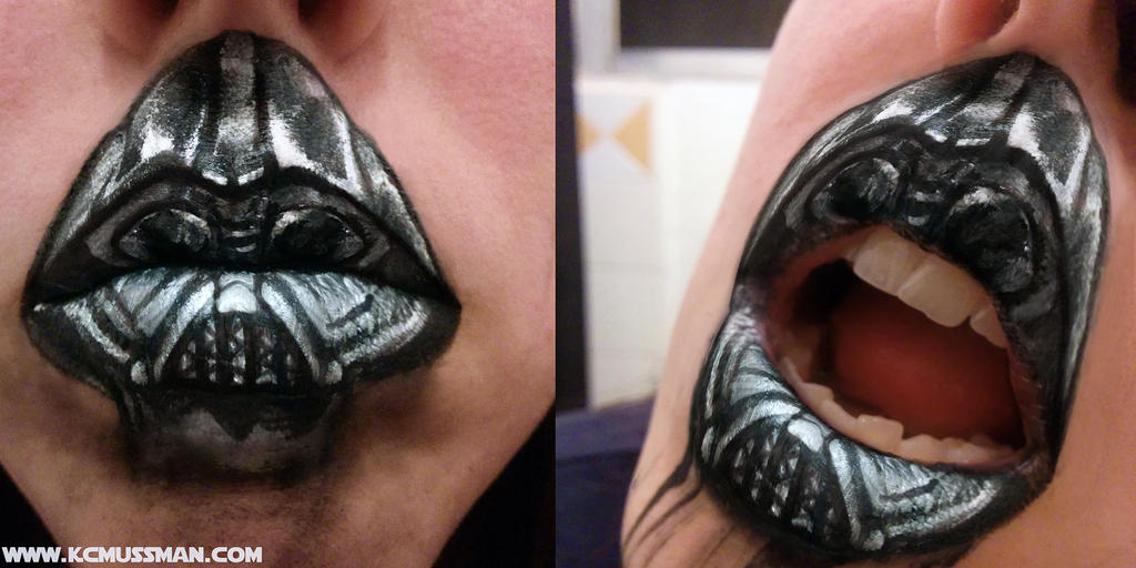 MAY THE 4th BE WITH YOU- DARTH VADER LIP ART by KCMussman