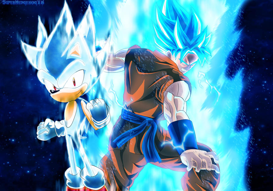 Hypersonic y SSGSS Goku by SuperhedgehogTX on DeviantArt