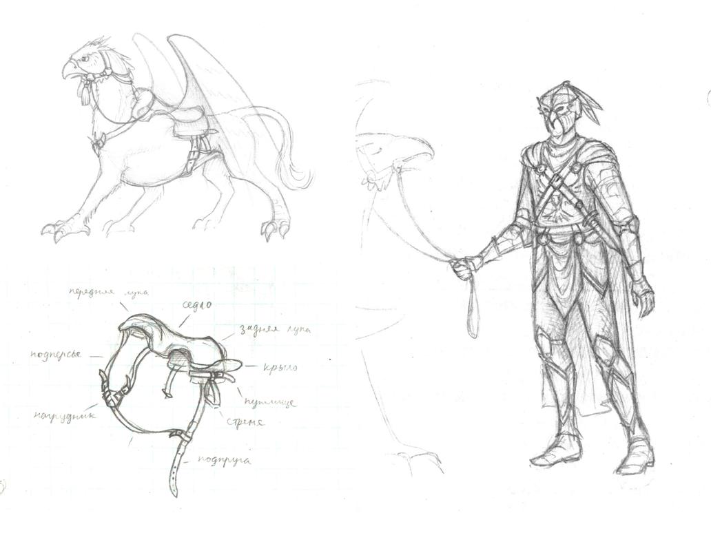 homm_6_griffin_rider_sketches_compilatio