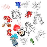 Stream Doodles by MoesArts