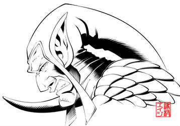 Green Goblin Headshot Inked by RodTsumura