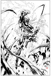 Magneto by Roger Cruz inks by Rod Tsumura