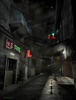 Sci-Fi Alley by RonnieRiddik