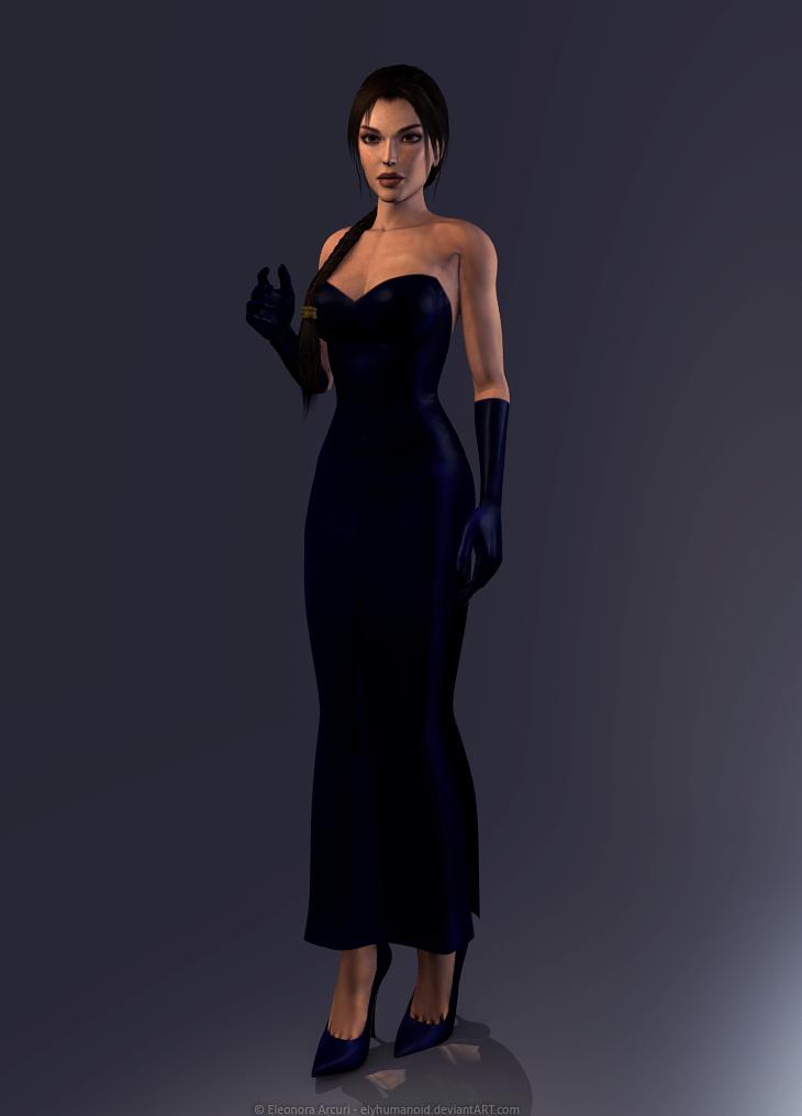 Lara Croft - TR5 dress by elyhumanoid