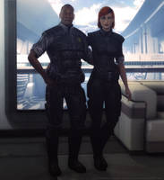 Anderson and Shepard by hellenys