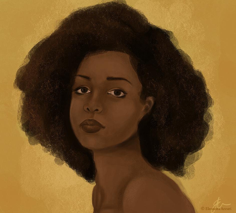 African girl by elyhumanoid